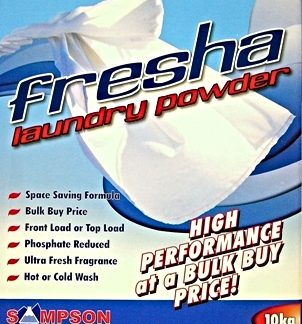 Fresha Laundry Powder - Blue box Sampson Chemicals