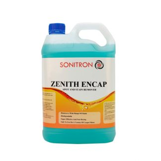 White bottle with blue solution sonitron zenith encap spot and stain remover - Glocally Mine