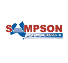 Sampson Chemicals Logo - Blue and Red