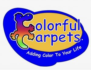Colorful Carpets Blue and Yellow with Text - Carpet Dyeing and Restoration Australia