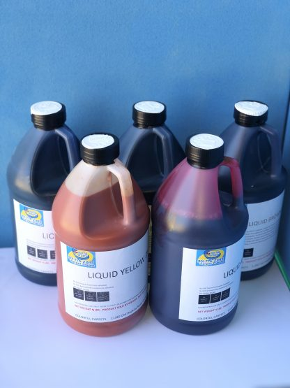Colorful Carpet Dyes bottles- Glocally Mine