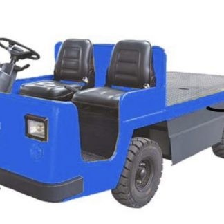Cleanvac Tow tractor blue