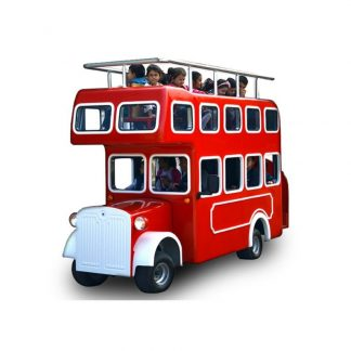 Amusement Vehicle for Children - Red bus